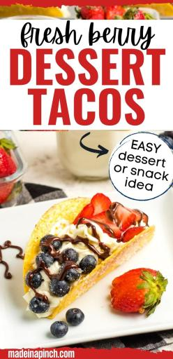 fresh berry fruit tacos long pin image