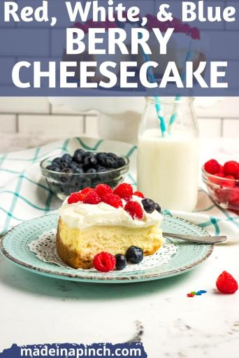 red white and blue Instant Pot Berry Cheesecake