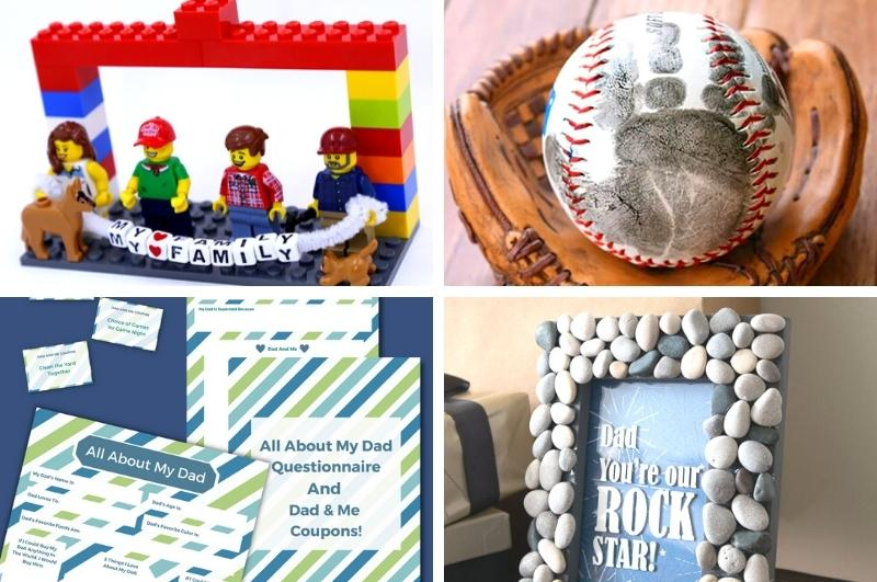 crafts for Dad image collage