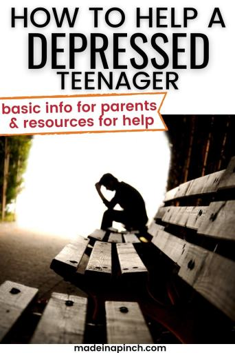 How parents can recognize and help teen depression pin image