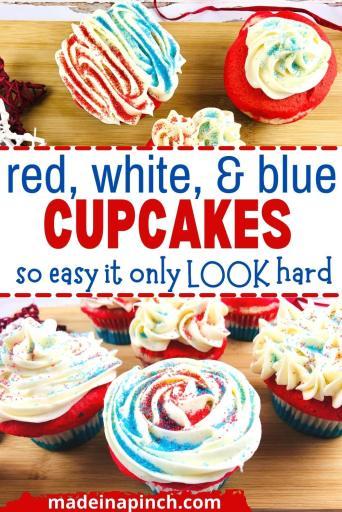 patriotic cupcakes pin image