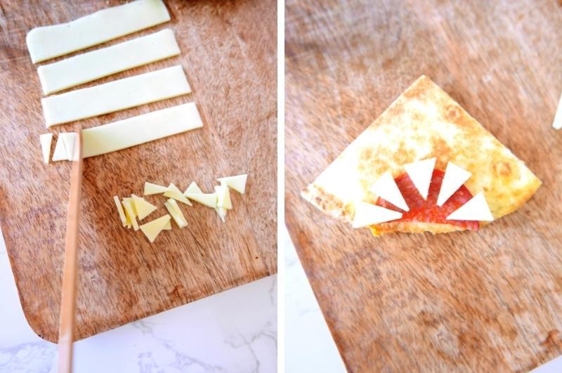 shark quesadillas process collage