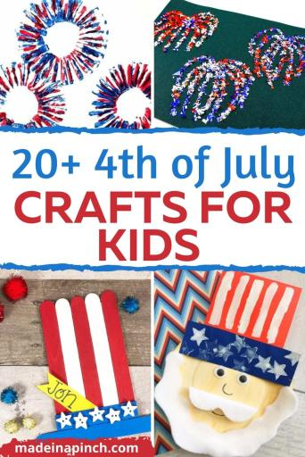 Fourth of July crafts for kids pin