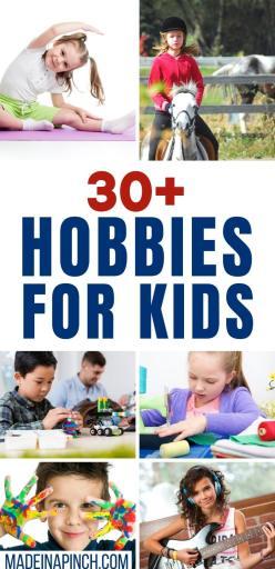 hobbies for kids long pin image