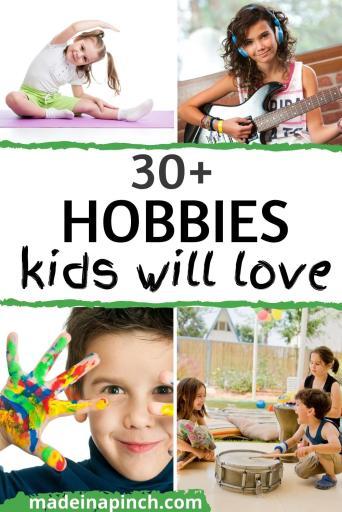 hobbies for kids pin image