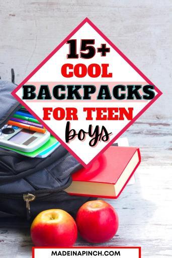 best backpacks for teen boys pin image