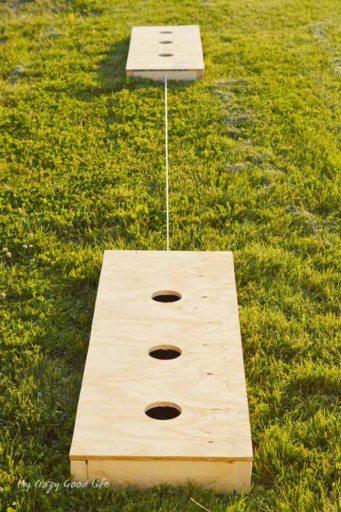 Three hole washers family backyard game