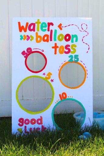 water balloon toss backyard game for families
