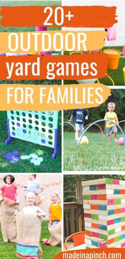 DIY Backyard Games! Looking for outdoor games for kids or adults or even the whole family? These are the most fun DIY yard games around with a terrific blend of classics and unique fun games. #yard #games #diy