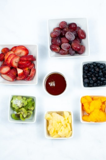 ingredients for rainbow popsicles