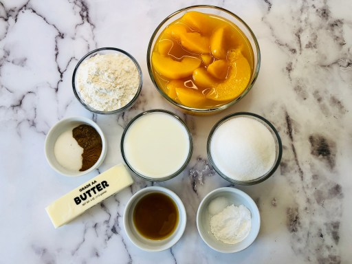 old fashioned peach cobbler ingredients