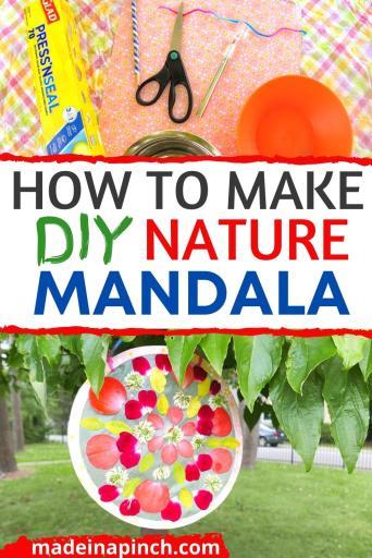 DIY nature mandala pin