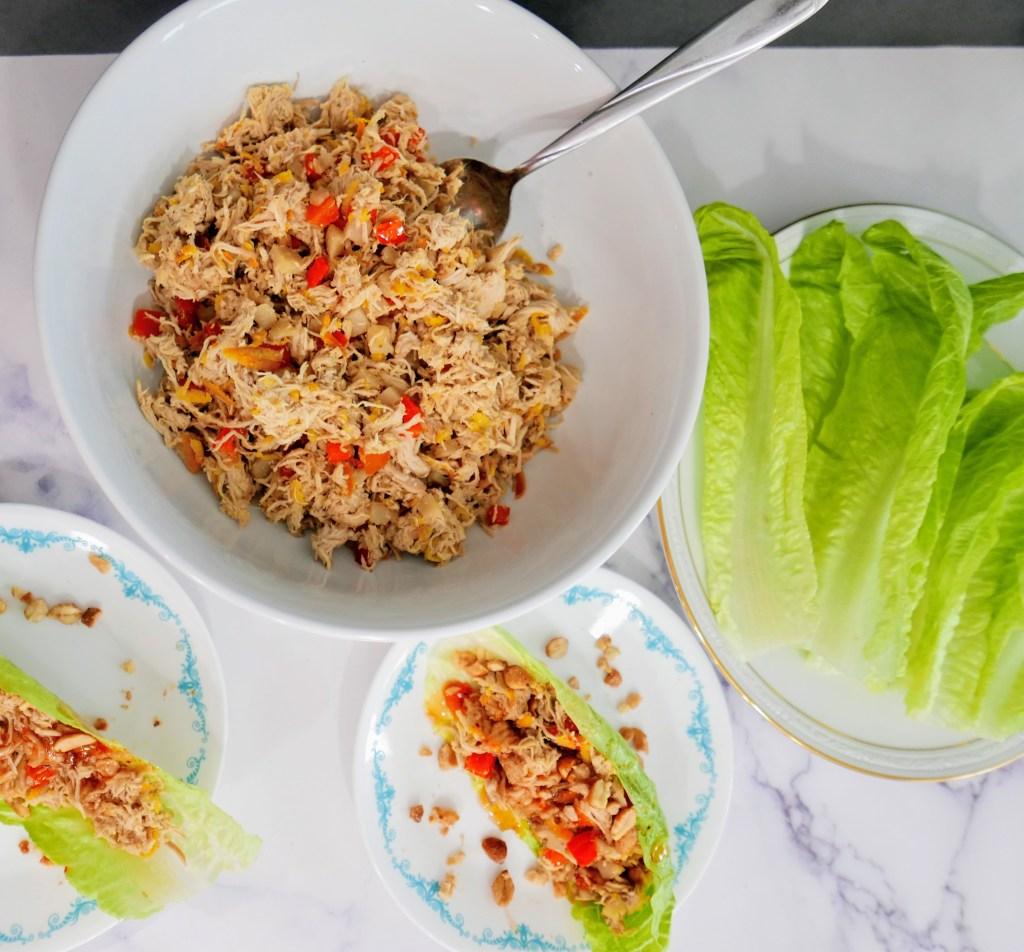 Orange Chicken Teriyaki Lettuce Wraps