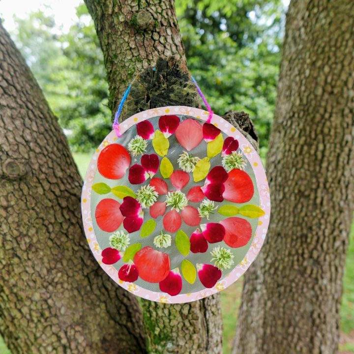 DIY nature mandala craft