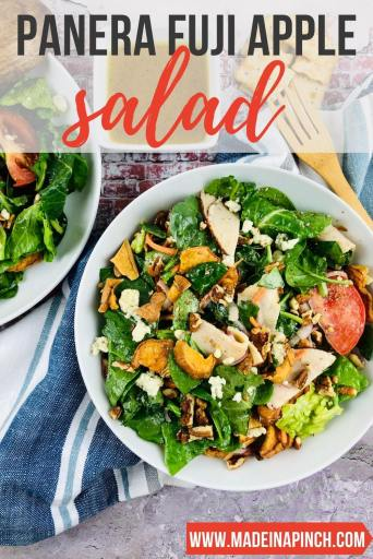 Panera apple salad recipe pin image