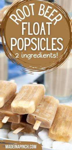 Root beer float popsicles long pin image