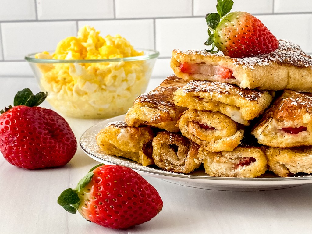 close up of stuffed French toast
