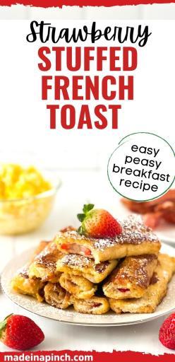 Strawberry stuffed French toast long pin