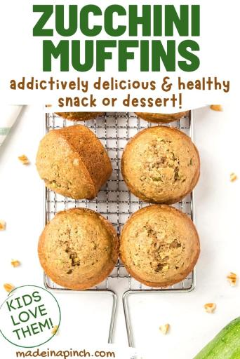 healthy zucchini muffins pin