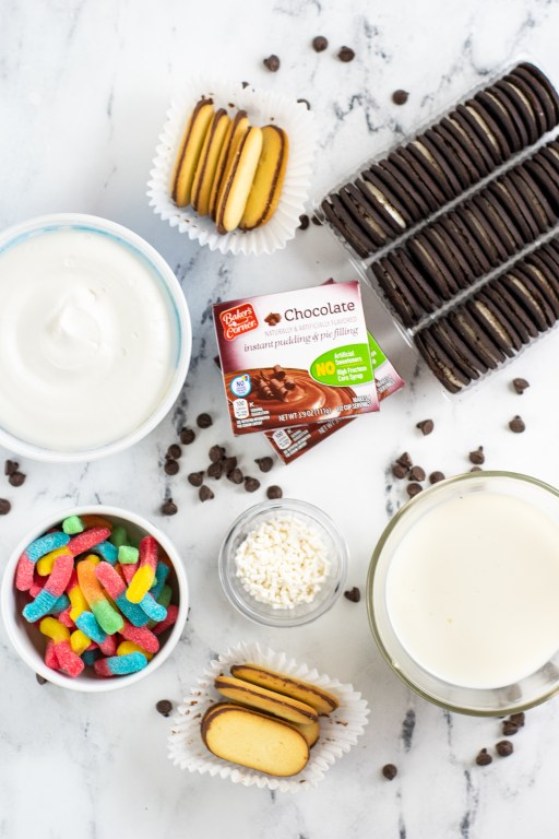 ingredients for layered oreo recipe