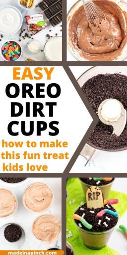 Halloween dirt cups long pin image