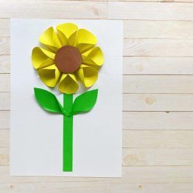 Folded paper sunflower craft final