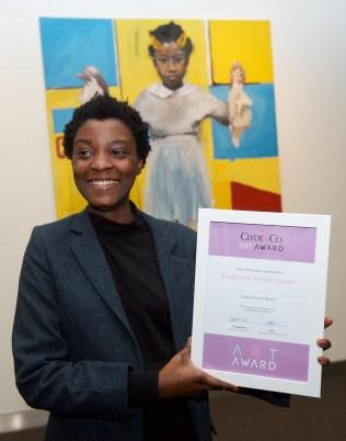 Kudzanai Violet Hwami - Winning the Clyde & Co Art Award