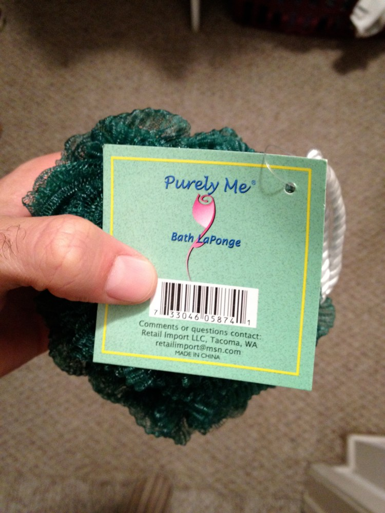 The loofah that ruined my year (1/2)