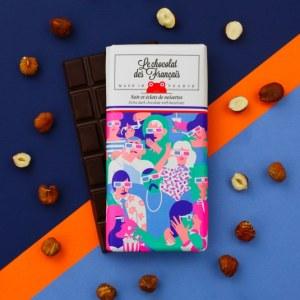 cinéma chocolat noir et éclats de noisettes