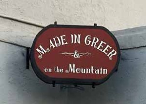Made In Greer and On The Mountain Sign