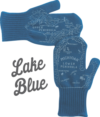 Lake Blue Michigan Mittens