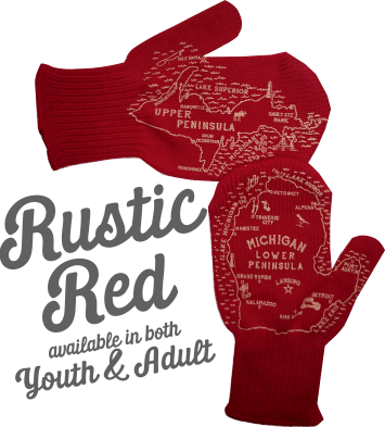 Rustic Red Michigan Mittens
