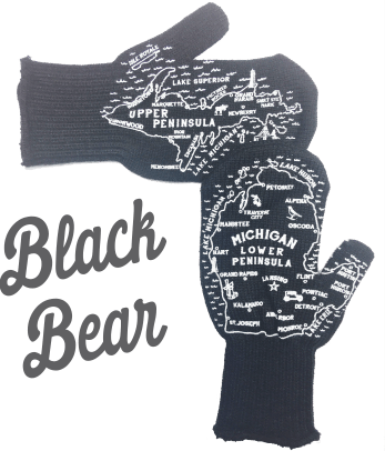 black bear michigan mittens
