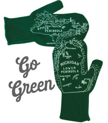 go green michigan mittens