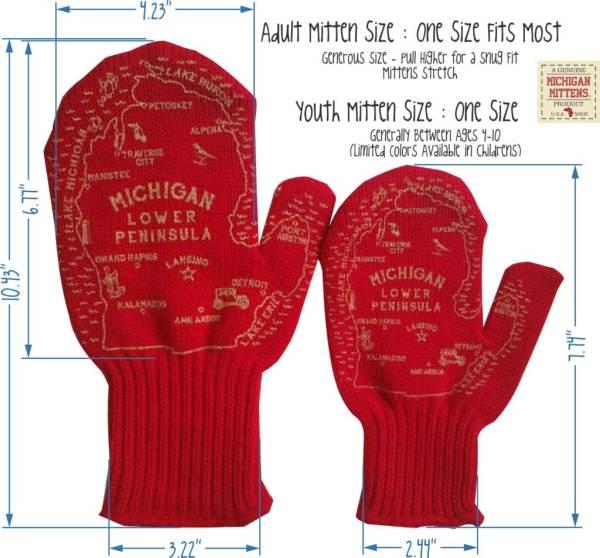Michigan Mitten Size Chart