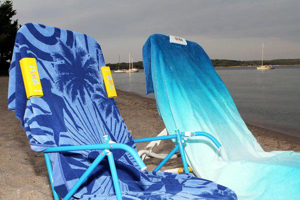 Slip Clip Holding Towel on Beach Chair