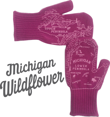 wildflower michigan mittens