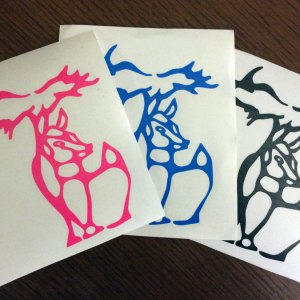 Small Michigan Deer Decal