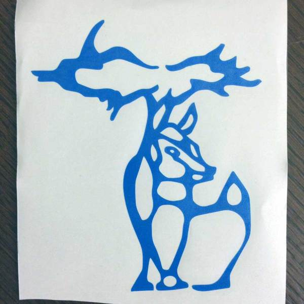 Blue Michigan Deer Decal