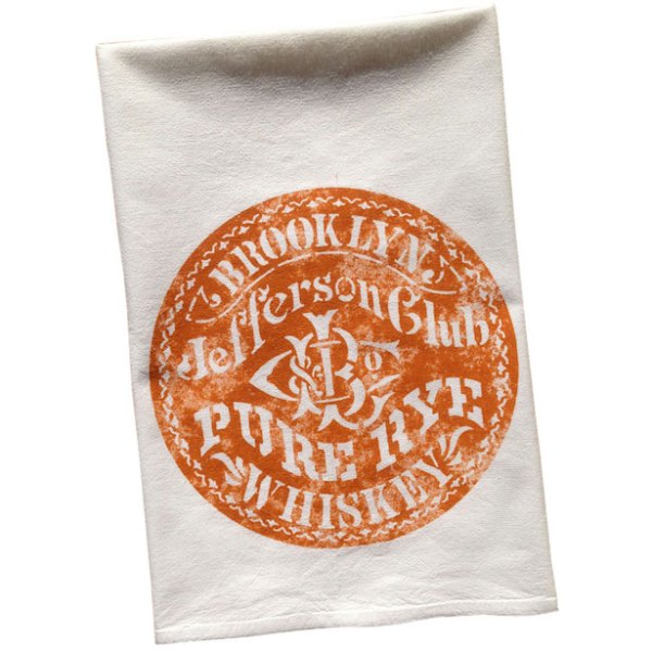 Vintage Graphic Jefferson Club Whiskey Towel