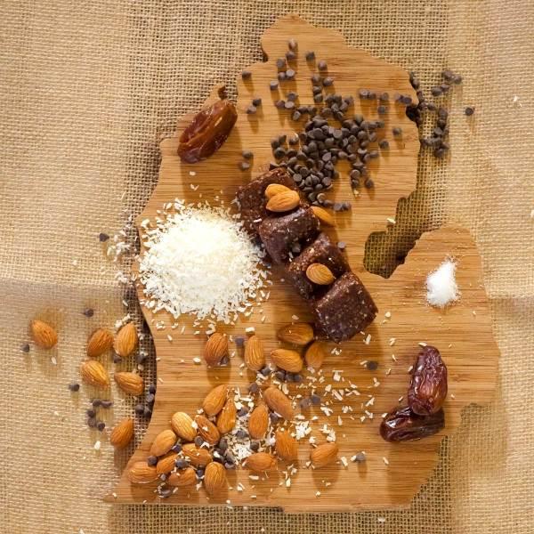 Almond Chocolate Coconut Energy Bites Ingredients