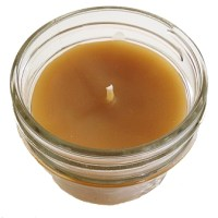 Bee Organic Beeswax Candle 4oz Glass Jar
