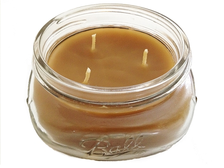 Bee Organic Beeswax Candle 8oz Glass Jar