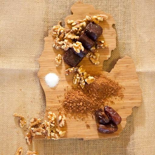 Dark Chocolate Walnut Energy Bites Ingredients