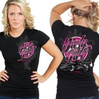 Dirt Late Model Racing Ladies Dirty Girl T-Shirt