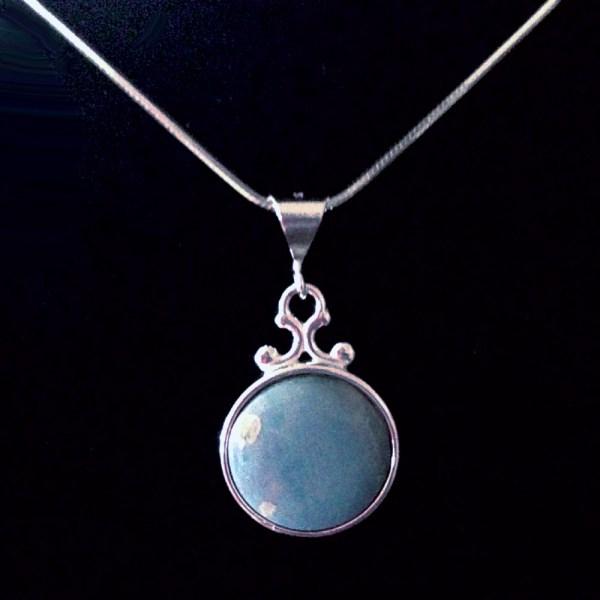 Round Leland Blue Necklace Medium Blue