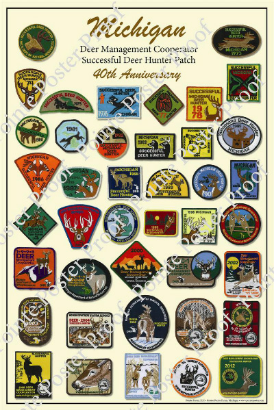 Michigan Successful Deer Hunter Patch Poster  40th