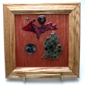 Petoskey Stone Michigan Plaque