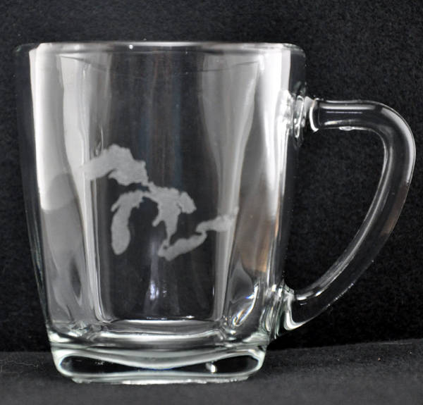 Laser Engraved Michigan's Great Lakes Mug