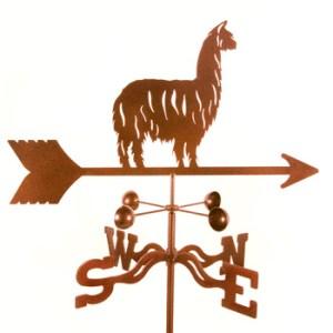 Alpaca Llama Weathervane